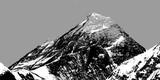 Streszczenie sylwetka Mount Everest z doliny Gokyo - 117924566