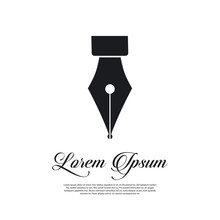 Fountain Pen Icon Vintage Style