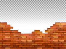 Vintage Brick Wall Background. Vector