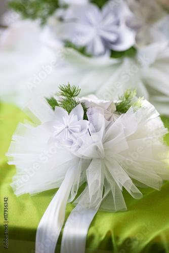 Preferenza Piccoli addobbi floreali con tulle e nastri da appendere - Buy NY57