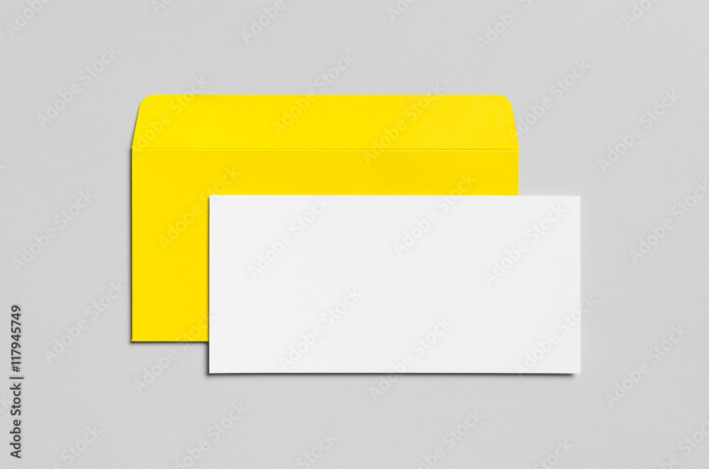 Photo & Art Print Branding / Stationery Mock-Up - Yellow & White ...