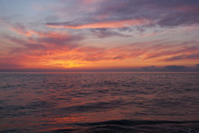 Sunsetting On Breakwater Beach Cape May NJ