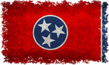 Tennessee State Flag With Vint...