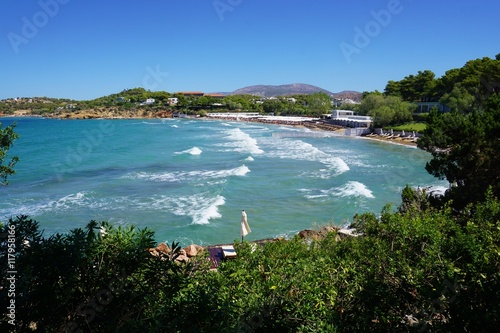 The Astir beach in Vouliagmeni near Athens Wallpaper Mural