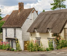 Cottages In Great Milton Village, Oxfordshire, England