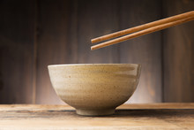 Plate Japanese Style On Wood B...