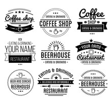 Black Logo. Coffee Shop Templa...