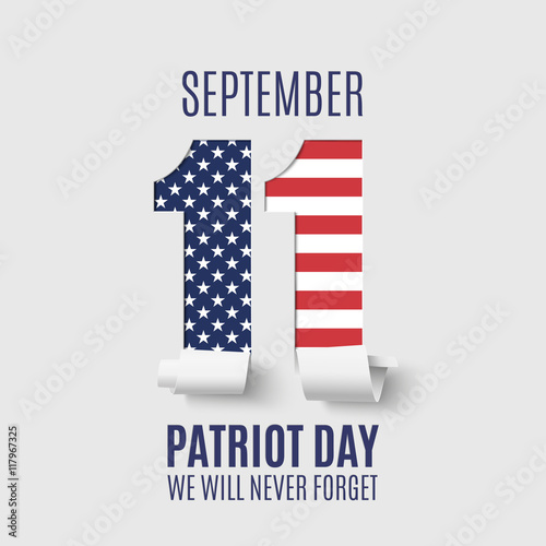 Photo  Abstract Patriot Day background template.