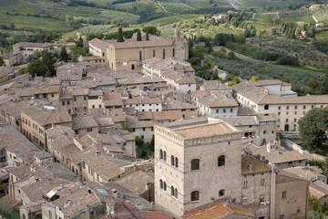 Panel Szklany Podświetlane Toskania San Gimignano Village, Tuscany