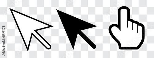 Fotomural  arrow and hand cursor