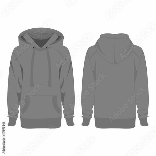 Grey hoodie isolated vector – kaufen Sie diese Vektorgrafik und ...