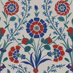 Panel Szklany Podświetlane Ornamenty Traditional Arabic seamless ornament. Floral Ornamental pattern. Vector. Background
