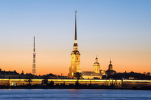 Peter And Paul Fortress During White Nights, St Petersburg, Russia