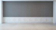 Empty White And Gray Wall Room - 3d Rendering