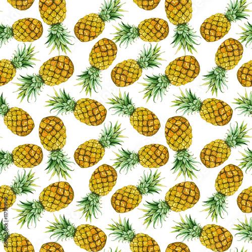 recznie-rysowane-akwarela-ananasy
