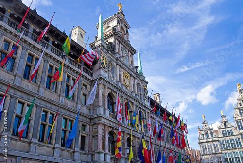Tuinposter Antwerpen Rathaus von Antwerpen