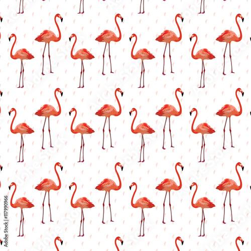 Canvas Prints Flamingo Bird Flamingo birds pattern Vector