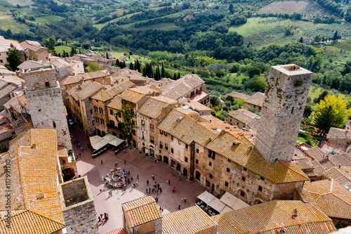 Photo  San Gimignano is a medieval town in Tuscany