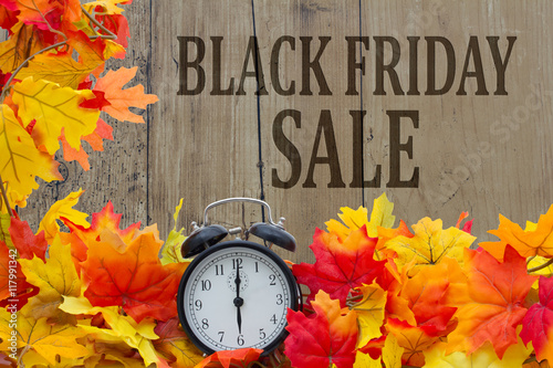 Foto op Canvas Jacht Time for Black Friday Shopping Sale