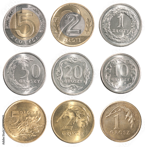 Cuadros en Lienzo Full set of Poland coin