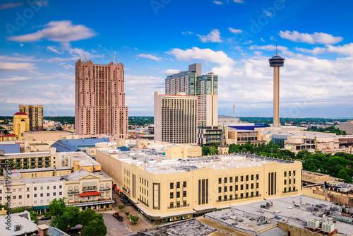 Aluminium Prints Texas San Antonio, Texas Skyline