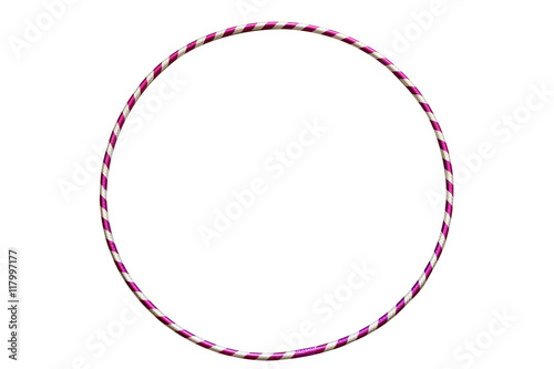 Photo sur Aluminium Gymnastique The hula Hoop silver with purple isolated on white background. Gymnastics, fitness,diet.
