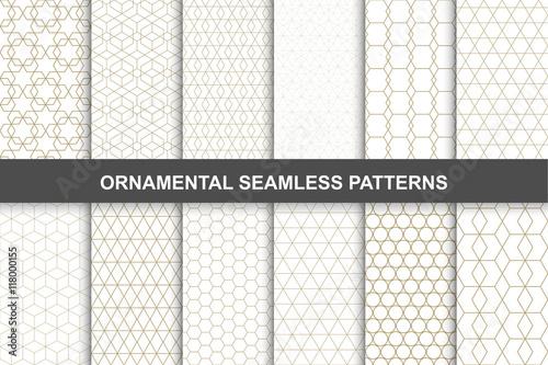 Fototapeta Ornamental patterns - seamless collection. obraz na płótnie
