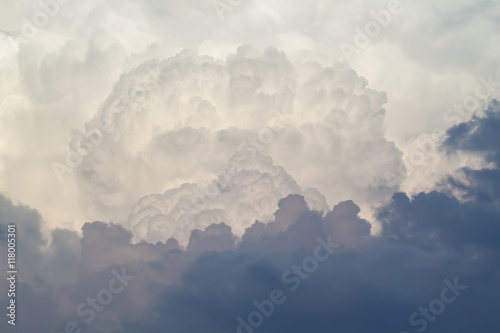 Storm clouds at sunset Fototapet