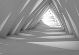 Fototapeta Perspektywa 3d - Abstract tunnel in the gray notes. The light at the end of the tunnel