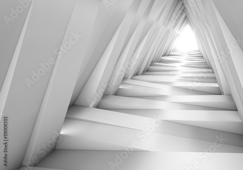 Plakat Streszczenie tunel w szarym notatki. Światło na końcu tunelu