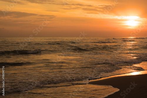 In de dag Rio de Janeiro Bel tramonto sul mare
