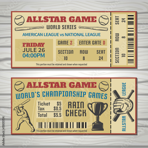 Photo  Baseball Competitions Tickets