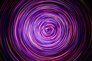 FototapetaAbstract rotating neon lights texture.