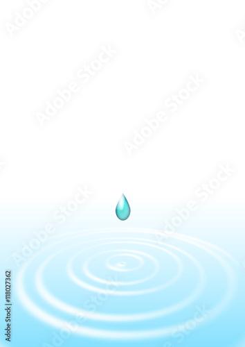 Fototapety, obrazy: クリーンイメージ 滴と波紋