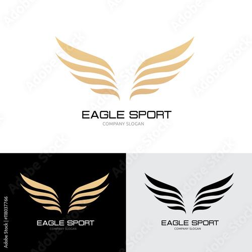 wings logo eagle wing logobird symbolfreedom logo