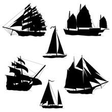 Sailboats And Sailing Ships Bl...