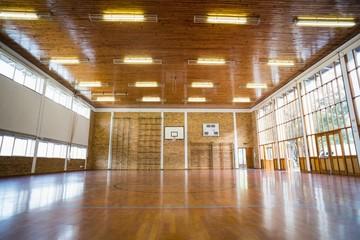 Interior of school gym hall