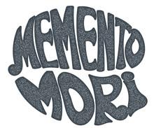 Memento Mori - Handmade Designer Label On A White Background. De