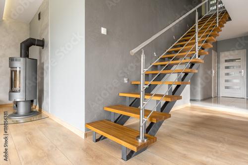 Open floor apartment with stairs idea Fototapeta
