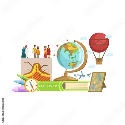 Fotografia  Geography Class Set Of Objects