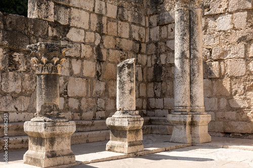 Photo Antike Synagoge Capernaum - Israel