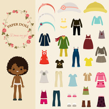 Dress Up Paper Doll With Body Template