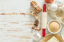 Baking Ingredients Background