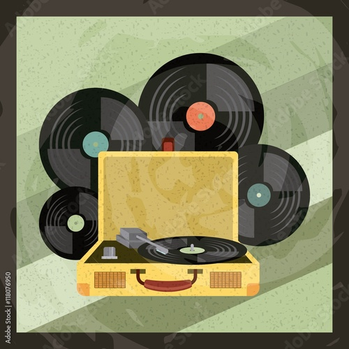 Photo  music vintage old popart