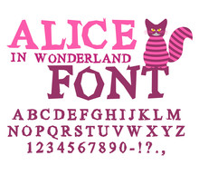 Alice In Wonderland Font. Fair...