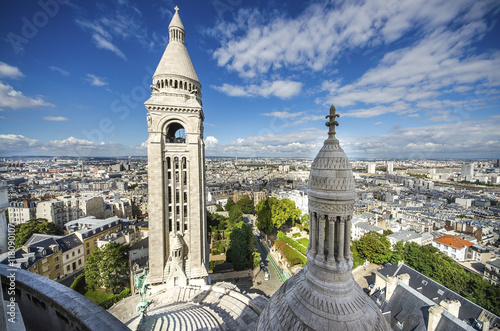 Photo  View of Paris from the Sacre Coeur in Montmartre hill