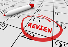 Review Evaluation Assessment Feedback Day Date Calendar 3d Illus