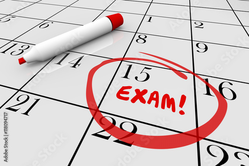 Fotografia  Exam Test School Final Physical Checkup Doctor Calendar 3d Illus