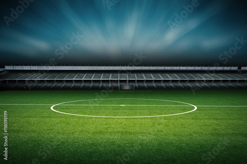 Canvas Prints Stadion stadium with soccer field
