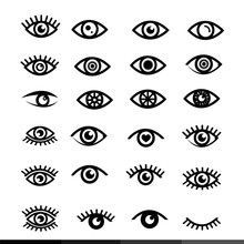 Eye Icon Set Illustration Design
